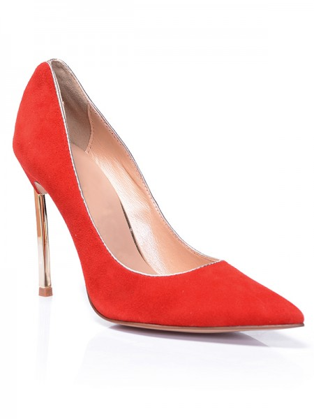 Red Suede Tacones S5MA0381LF